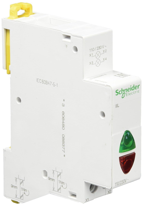 Schneider A9E18325 Doppel-Leuchtmelder iIL, LED, 110-230V AC, Grü n/rot