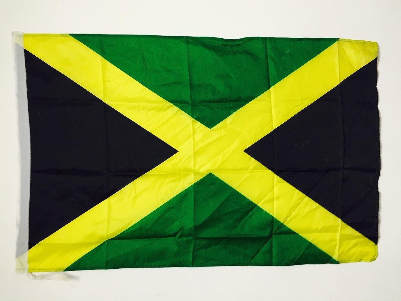 AZ FLAG Bandera de Jamaica 90x60cm para un Palo - Bandera JAMAICANA 60 x 90 cm Poliester Ligero: Amazon.es: Jardín