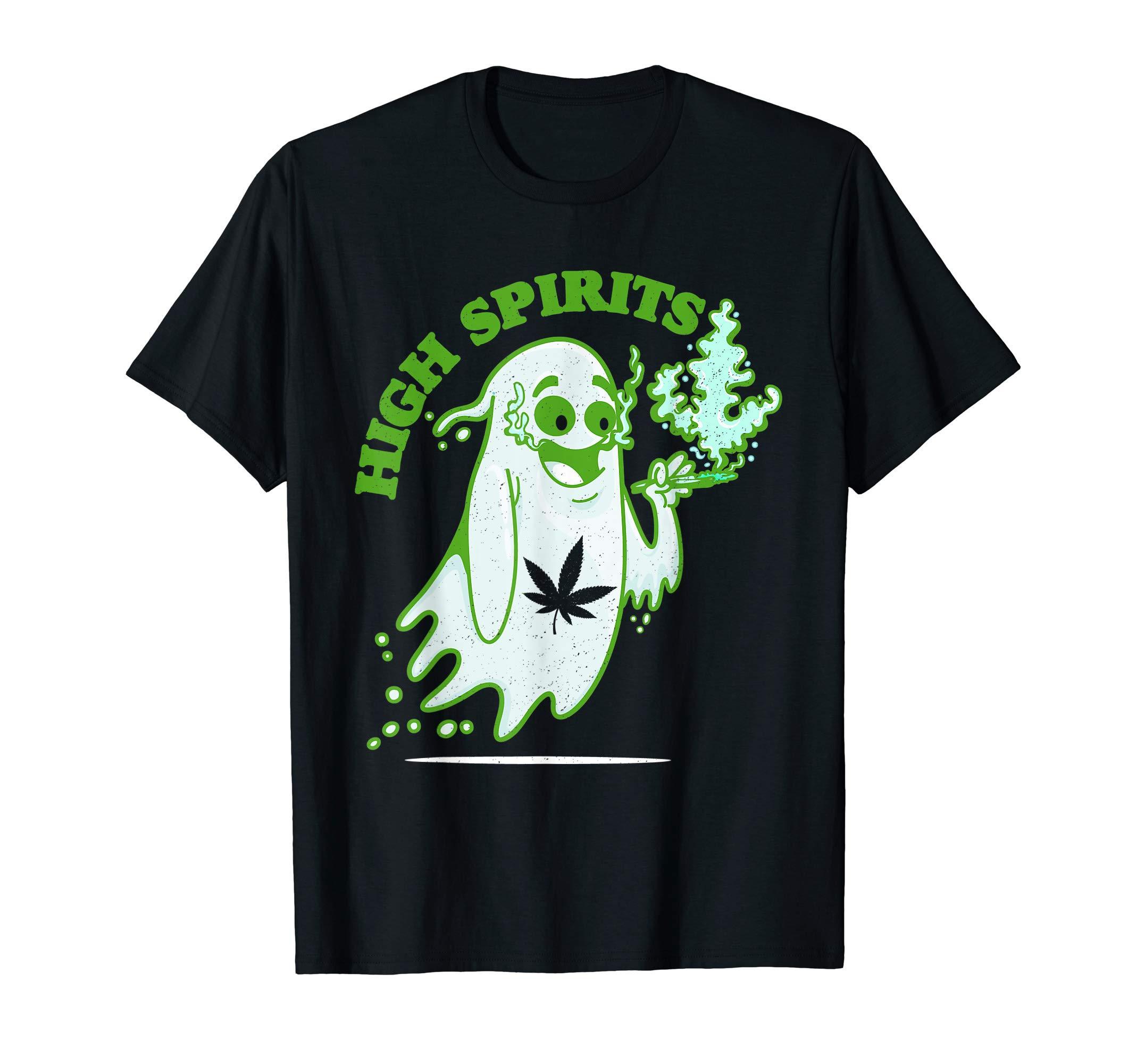 Funny Halloween Marijuana CBD Weed Smokers Stoners & Pothead T-Shirt