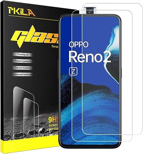 Image ofProtector de Pantalla OPPO Reno 2Z Cristal Templado [9H Dureza][Alta Definición][Fácil de Instalar] Vidrio Templado HD Protector Pantalla para OPPO Reno 2Z (2 Piezas)