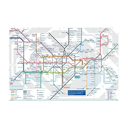 Amazon com: The London Subway Map Poster Wall Art Print 35x47 Inches