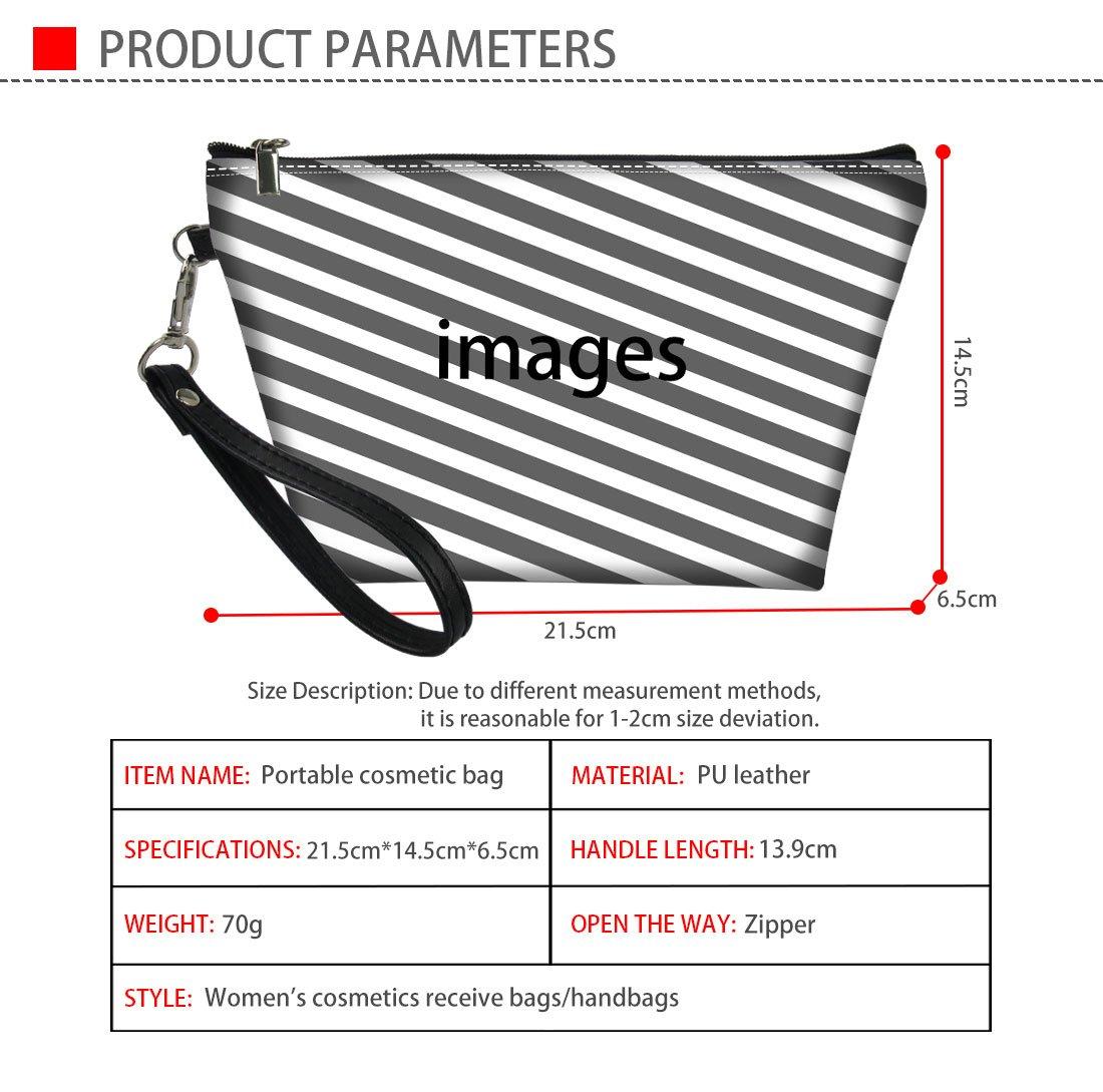 Mumeson Floral Schnauzer Pattern Trapezoid Make Up Bags Clutch Handbags by Mumeson (Image #7)