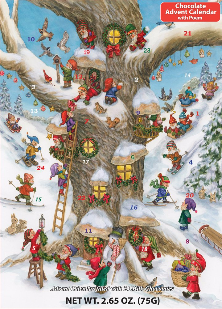 Elf Magic Chocolate Advent Calendar, 2.65 oz Vermont Christmas Company