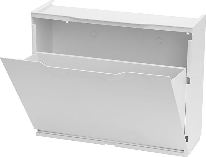 Art Plast U50//1N Scarpiera in Plastica Nero//Bianco