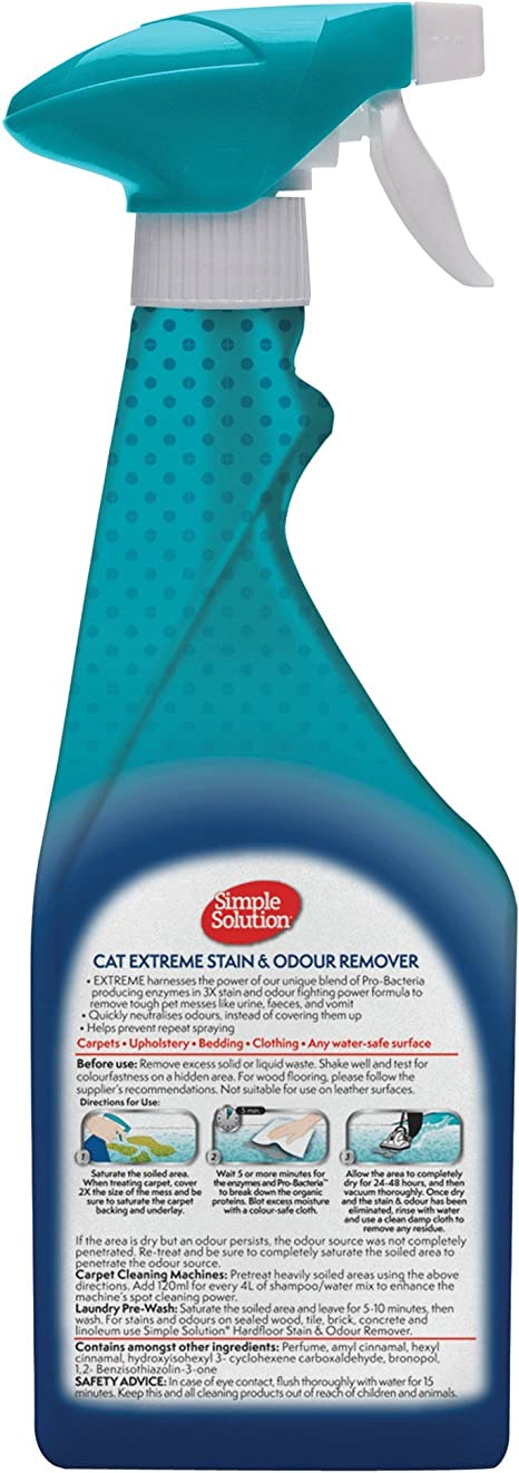 Simple Solution Cat Extreme Removedor de Manchas y Olores para Gatos - 500 ml