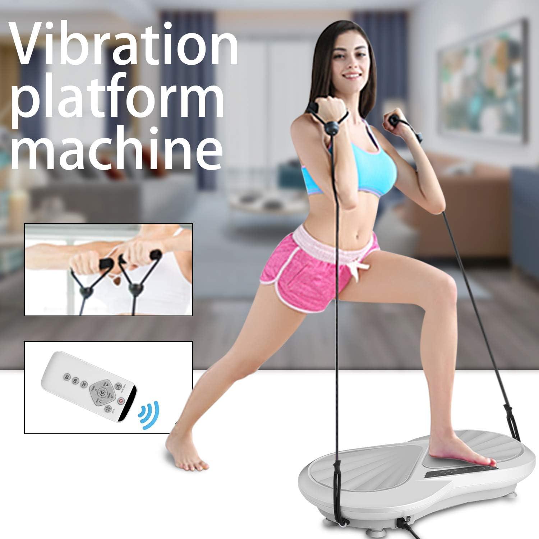 Caroma Vibrationsplatte 3D Ganzk/örper Trainingsger/ät Vibrationsplatte mit Leisen Motoren 3+1 Trainingsprogramme,99 Stufen Trainingsb/änder inkl Fernbedienung Fett verlieren und Fitnesstraining