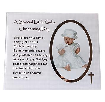 3780e4df0ab7c A Special de petite fille baptême Jour plaque Cadre photo effet miroir  Memento bébé fille Idée