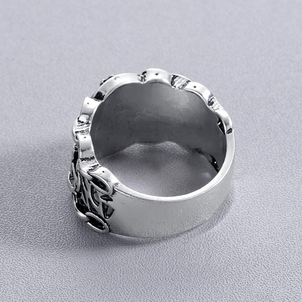 Handmade Vintage Viking Nordic Slavic Pagan Amulet Finger Ring Hiphop Party Swords Compass Ring Women Men Gift