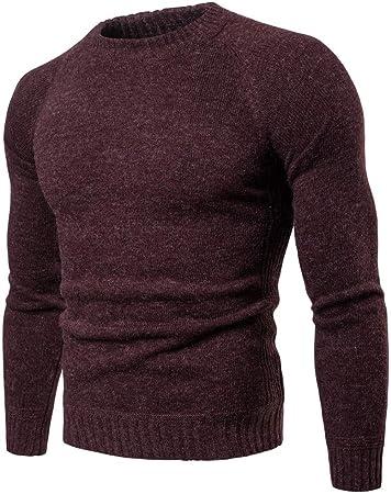 Jersey de punto para hombre Camisa de punto que basa de los ...
