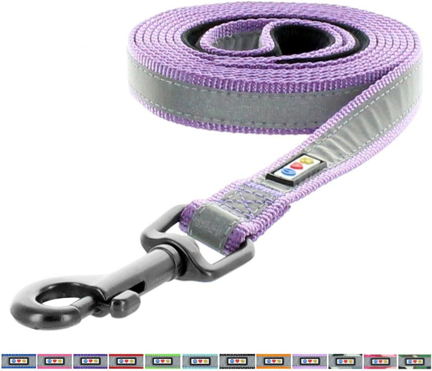 Collier et harnais assortis vendus s Reflective Padded Dog Leash // Lead Matching Collar and Harness sold separately Size M // L Color Camo Pink // Laisse rembourr/é r/éfl/échissante pour chien // chiot Pawtitas Puppy // Pet 1.80 m 1.80 m
