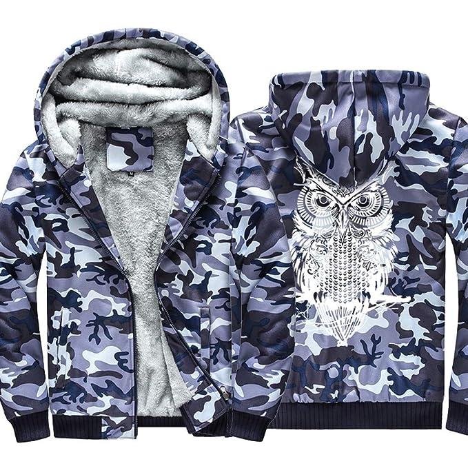 Internet-Chaqueta con Capucha de Camuflaje de Invierno para Hombre, con Estampado de búho