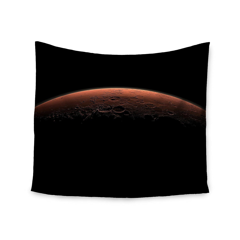 51 x 60 Kess InHouse Alias Martian Sunrise Black Nature Wall Tapestry