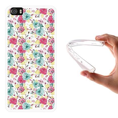 WoowCase Funda Xiaomi Mi5, [Xiaomi Mi5 ] Funda Silicona Gel Flexible Flores, Carcasa Case TPU Silicona - Transparente