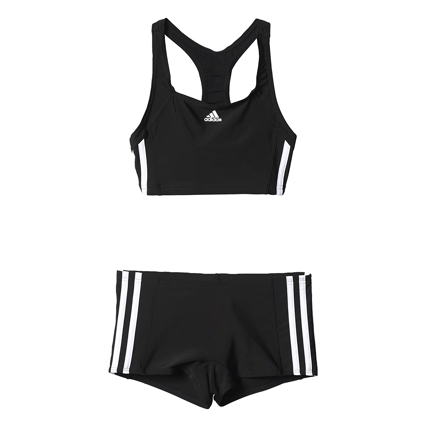9724c4b9dfd adidas Inf Ec3S 2Pc Y Set de 2 Swimsuites for Girls, Black (Black/White),  116: Amazon.co.uk: Sports & Outdoors