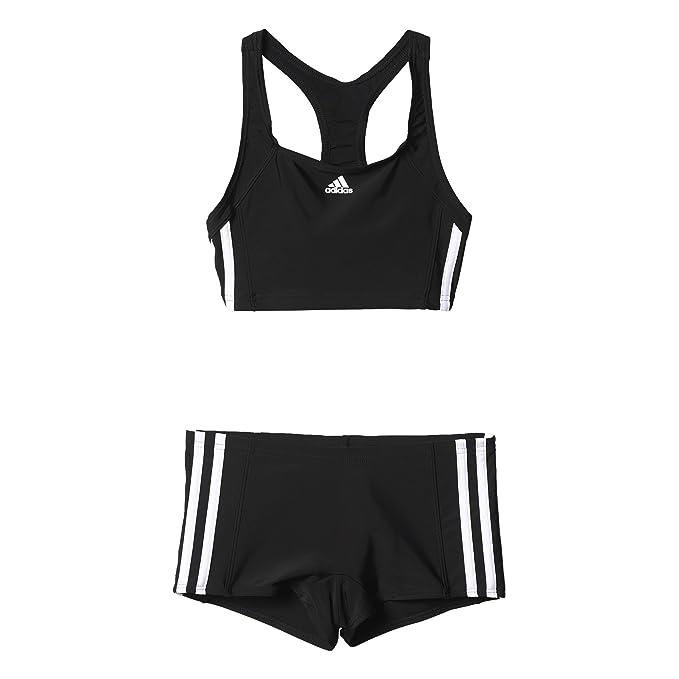 5c7a99177d0a adidas Benzina Core 3-Stripes Costume da Bagno Ragazza: Amazon.it:  Abbigliamento