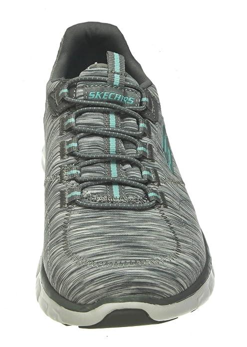 Skechers Damen Empire take Charge Sneaker, Schwarz