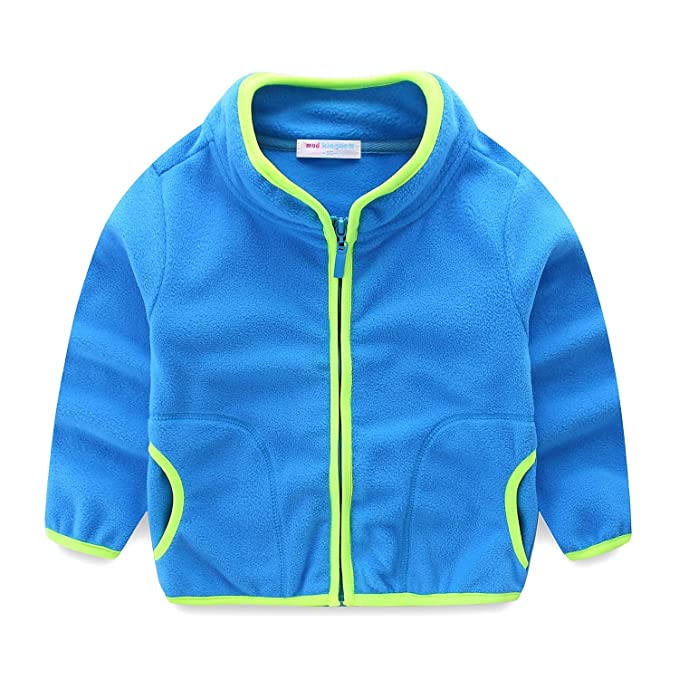 775765d837c8 Amazon.com  Mud Kingdom Unisex Kids Fleece Jackets Lightweight Plain ...