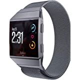 Aiiko Compatible with Fitbit Ionic Bands, Metal Stainless Steel Large Size Strap,Comfortable Adjustable Closure Wrist Sport B