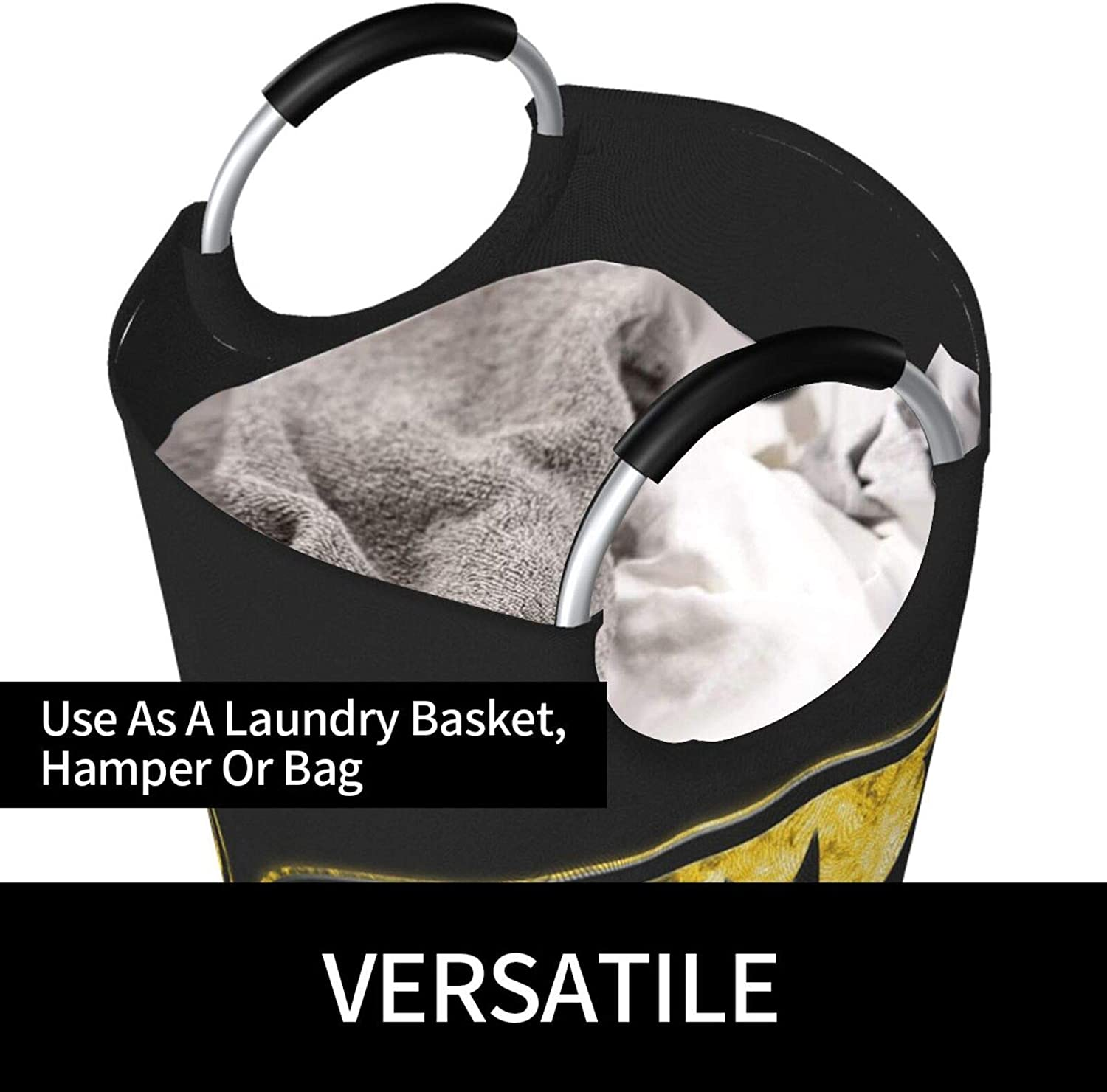 Foldable Clothes Laundry Bag with Handles HijingTT B-A-T-Man 82l Large Laundry Hamper Basket Waterproof Dirty Clothes Basket for Clothing Quilts Sheets Towels Toy Puppets