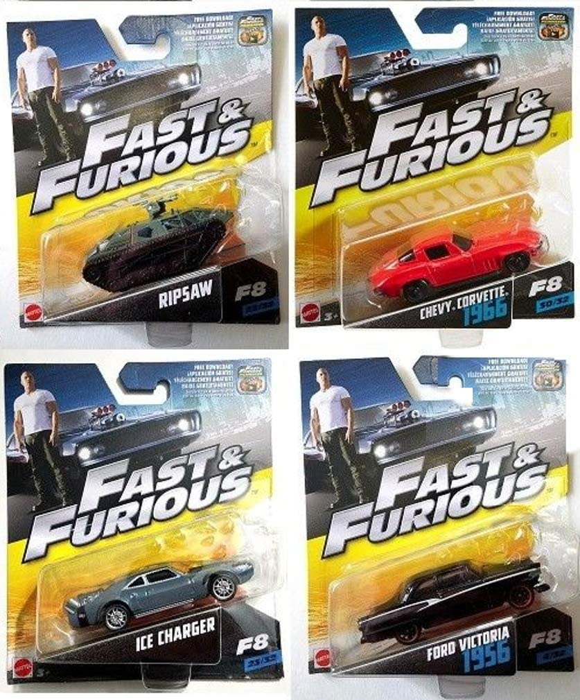 Fast and Furious Lote 4 Modelos Coche Cars DieCast 1:55 7cm Chevy ...