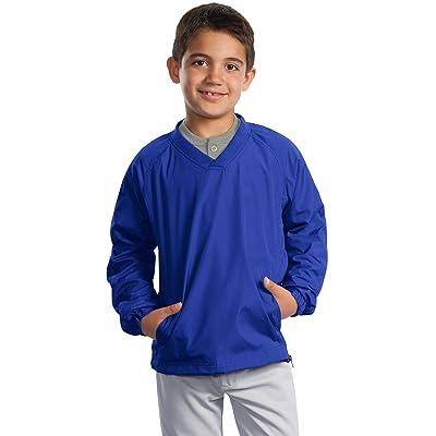 Sport-Tek Boys' V Neck Raglan Wind Shirt
