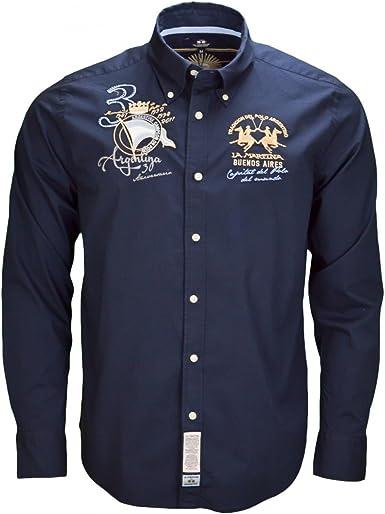 La Martina - Camisa casual - para hombre azul Small: Amazon.es: Ropa y accesorios