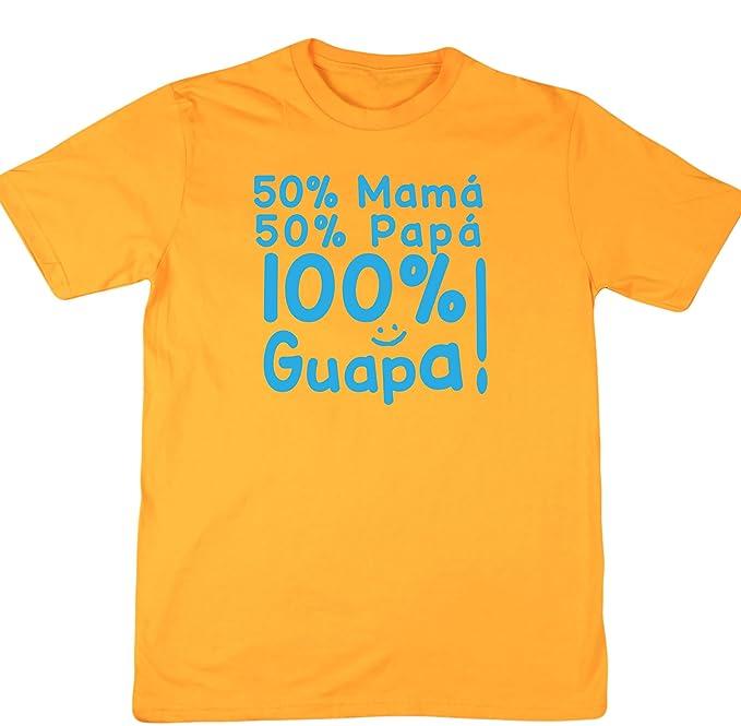 HippoWarehouse 50% Mamá 50% Papá 100% Guapa!! camiseta manga corta unisex