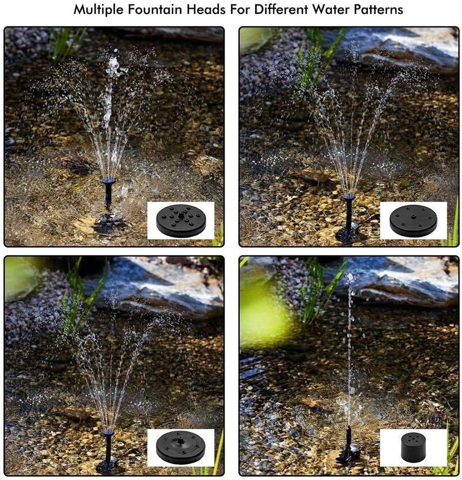 Ba/ño de Aves Fish Tank y Decoraci/ón del Jard/ín Bomba de Fuente Solar Bomba de Agua Solar Kit de Panel de energ/ía Bomba de Agua de Panel Solar para Peque/ño Estanque Bomba de Agua Solar en Miniatura