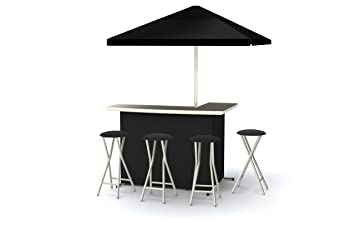 Best Of Times Patio Bar And Tailgating Center Deluxe Package  Solid Black
