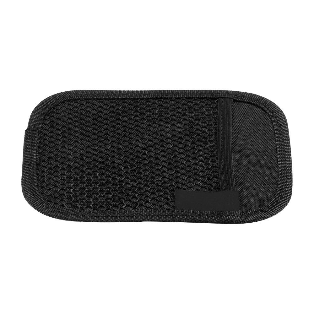 HITECHLIFE Bolsa de Malla para Almacenamiento de Autom/óviles Caja de Almacenamiento de Etiquetas EngoMadas de Cuero de Microfibra Tarjeta de Tel/éfono m/óvil Almacenamiento de Ojos