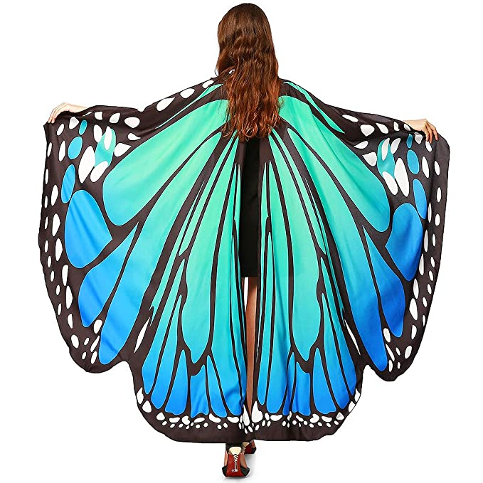 Luckcome Girls/' Butterfly Wings Shawl//Childrens Halloween Costume Accessory