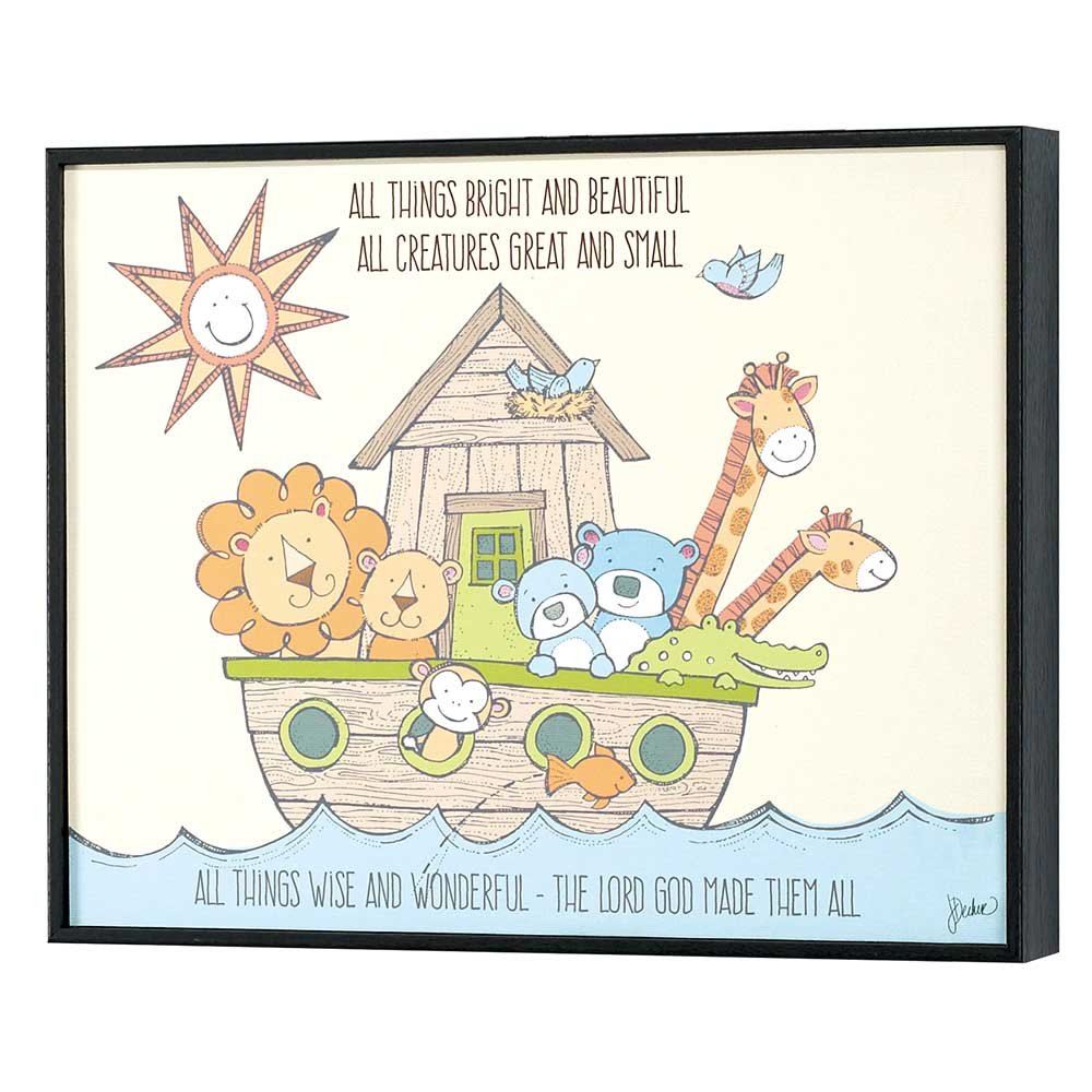 Dicksons Noah's Ark The Lord God Made Them All Canvas Wall Decor, Multicolor