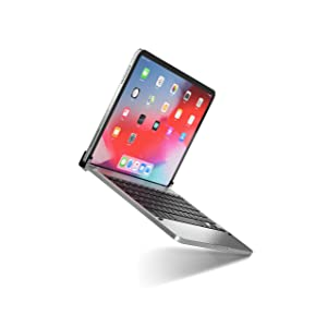 Brydge Pro 11.0 Keyboard for 11.0-inch iPad Pro 3rd Generation 2018 Model | Aluminum Wireless Bluetooth Keyboard with Backlit Keys | Long Battery Life | (Space Gray) (Color: Space Grey)