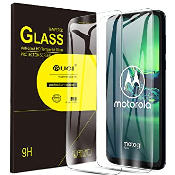 KuGi. para Moto G8 Plus Protector de Pantalla, Cristal Templado 9H Dureza Alta Definicion Protector de Pantalla Diseñado para Motorola Moto G8 Plus. ...