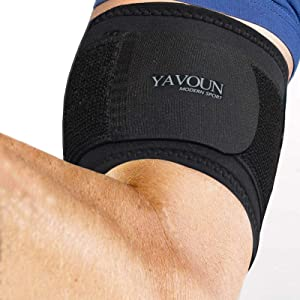Tendonitis - Bicep & Tricep Compression Sleeve/Wrap - Tricep Tendonitis, Bicep Tendonitis - Pain Relief for Bicep and Tricep Muscle Strains, Compression Arm Suppor (Black, 8.3