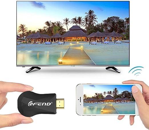 Certificado CE ROSH] Wireless HDMI Pantalla Dongle Espejo, COFEND® Mini Wifi pantalla TV Dongle receptor 1080 P Fácil Compartir inalámbrico Full HDTV HD TV Stick para dispositivos iOS / Android / Windows /