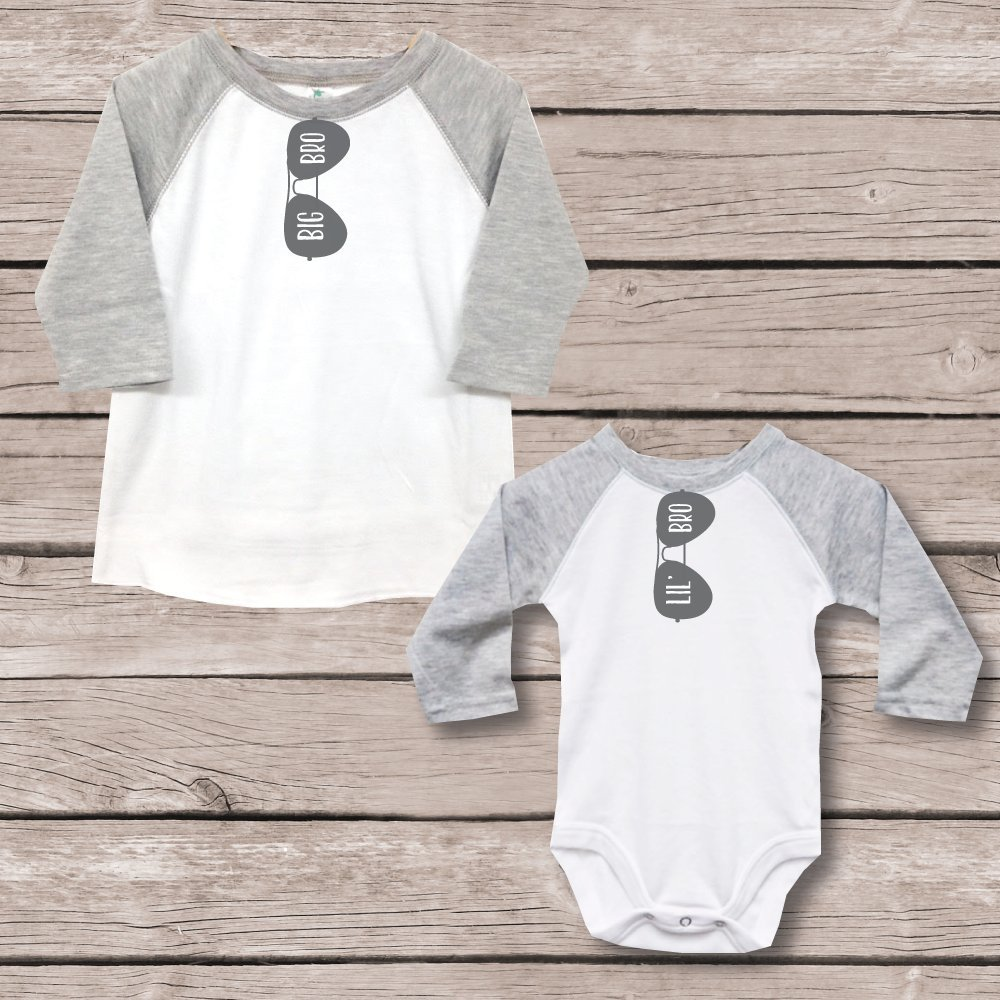 437f3d2d6 Amazon.com: Big Brother Little Brother Shirts Onesie New Big Brother  Matching Shirts Baby Shower Gift: Handmade