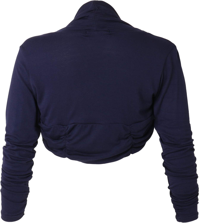 KRISP Damen Festliche Bolerojacke Schulterjacke D/ünn Bolero Transparent Spitzenjacke