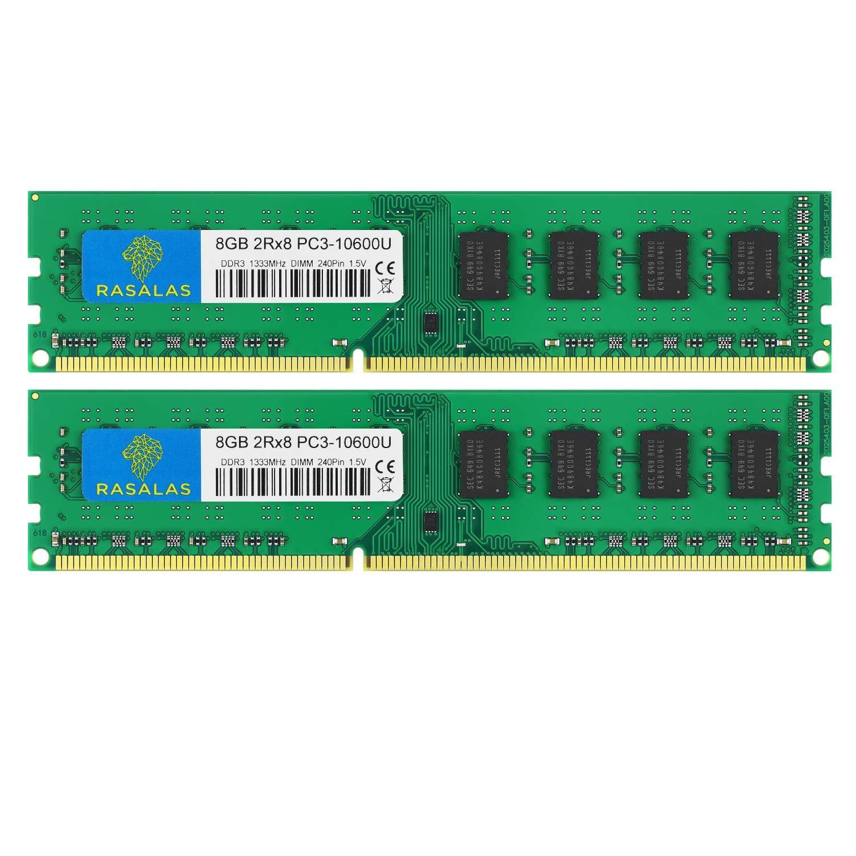 Memoria Ram 16gb Rasalas Ddr3 Kit (2x8gb) Pc3-10600 Ddr3 133
