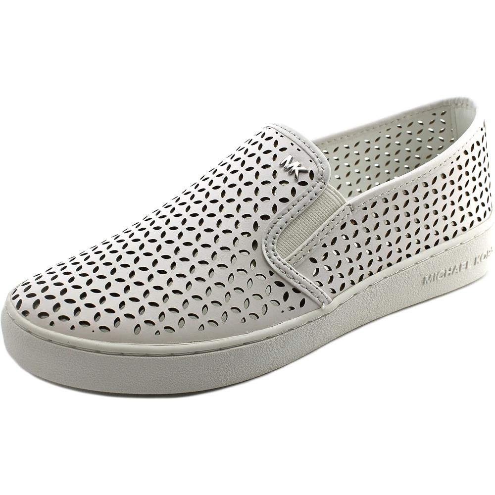MICHAEL Michael Kors Women's Olivia Slip-On Optic White Vachetta Loafer