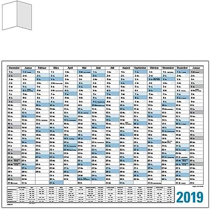Wandkalender Wandplaner Jahresplaner 2019 XXL A0 Tafelkalender