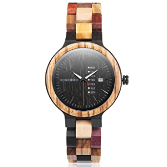Amazon Com Colorful Wood Watches For Men Women Handmade Analog Week