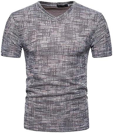 BOLAWOO Hombres De Los Hombres Camiseta De Color Sólido Mode ...