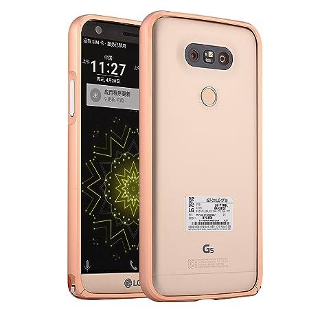 LG G5 Frame Funda, adorehouse Estuche Metálico Carcasa ...