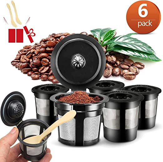 OMZGXGOD Cápsulas Filtros Acero Inoxidable de Café Recargable, 6 pcs Cápsulas Filtros de Café Recargable Reutilizable para,Cafeteras ampliamente utilizadas: Amazon.es: Hogar