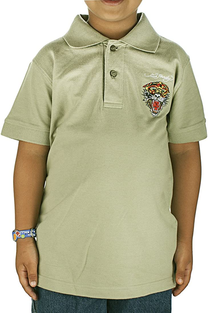 Ed Hardy Big Boys Girls Kids Animal Graphics Classic Polo Shirt Top