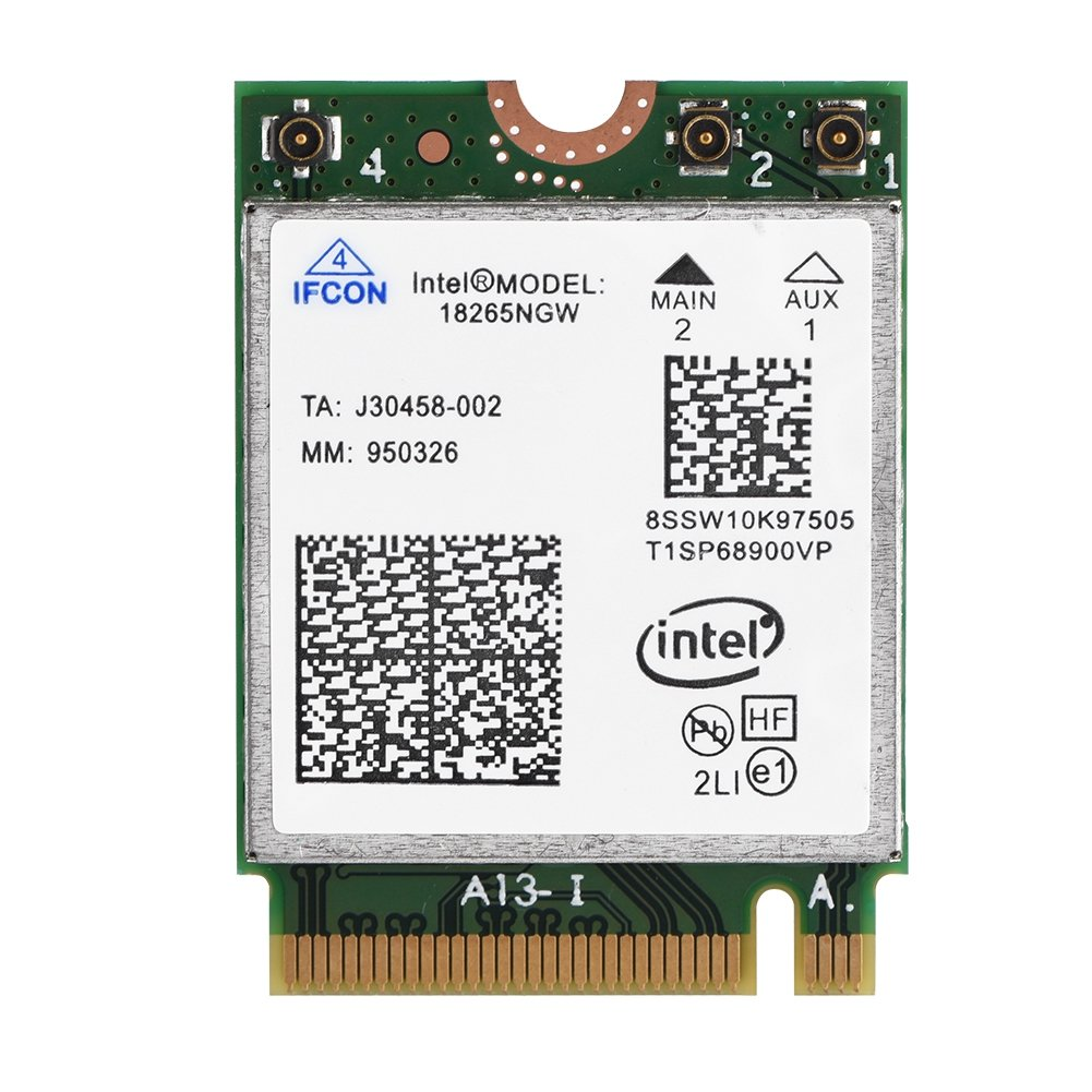 fosa Wireless Intel 18265NGW NGFF M.2 Wifi Card, High Speed 2.4G/5G Bluetooth 4.2 Tri-Band Wireless Card Module for Acer,Asus,Dell,Samsung,Sony PC Laptop