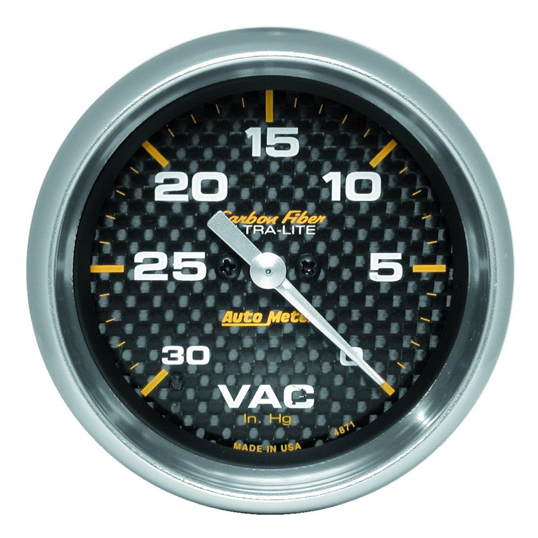 Auto Meter 4871 Carbon Fiber Electric Vacuum Gauge
