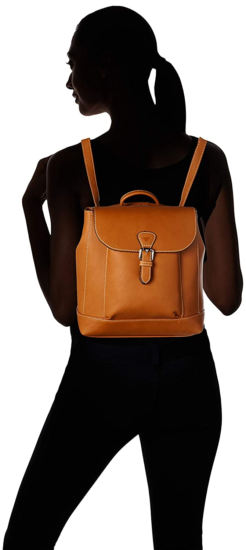 TOM TAILOR ryggsäck dam Nella, 24 x 40 x 10 cm, TOM TAILOR ryggsäck handväska, damryggsäck, handväska ryggsäck dam Brun (konjak)