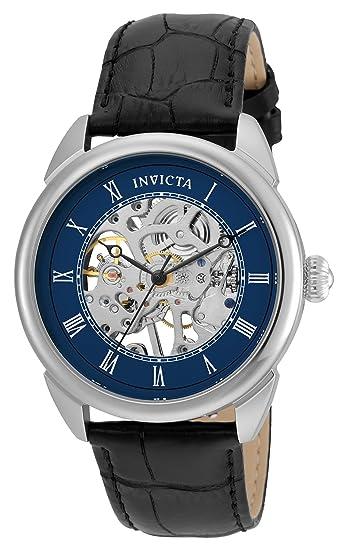 Invicta Specialty 23534 - Reloj de pulsera Mecánico Hombre correa de Cuero Negro: Amazon.es: Relojes